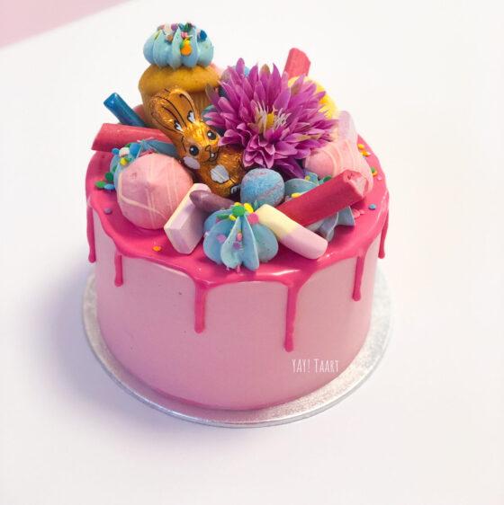 workshop breda pasen taart dripcake pink cake taartje bestellen vrijgezellenfeest