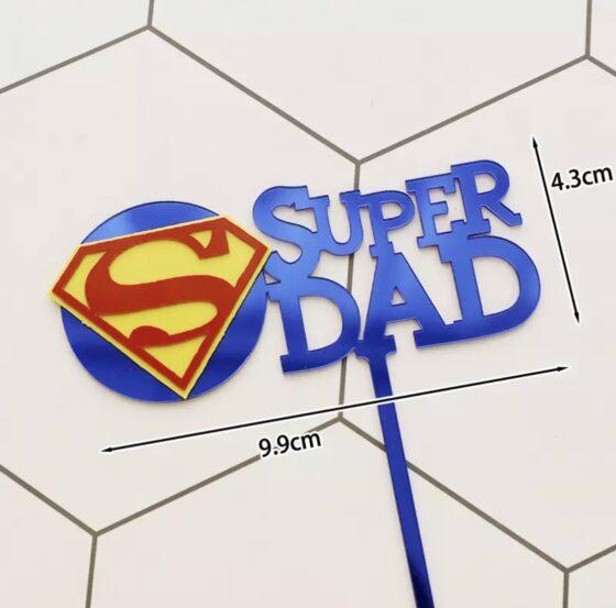 vaderdag taart topper breda bestellen super papa