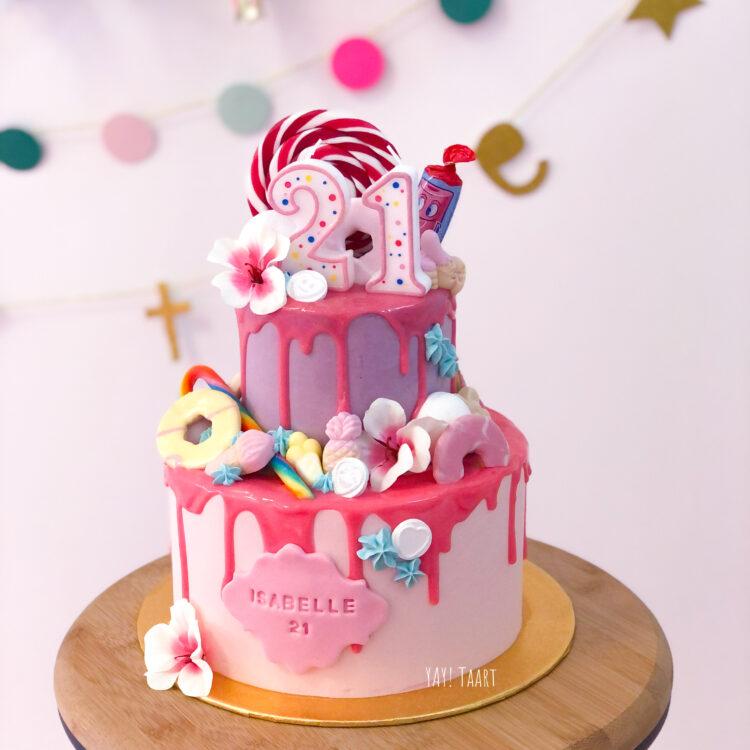 snoeptaart breda bestellen dripcake snoep lolly candy cake
