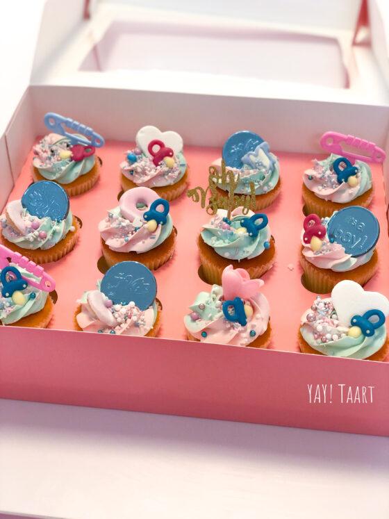 gender reveal cupcakes breda babyshower oosterhout roosendaal