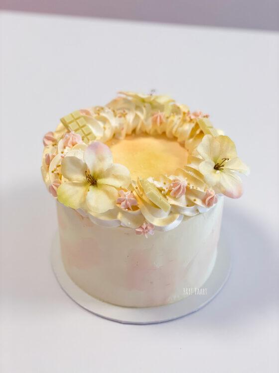 breda taart peach watercolor marble marmer cake bestellen