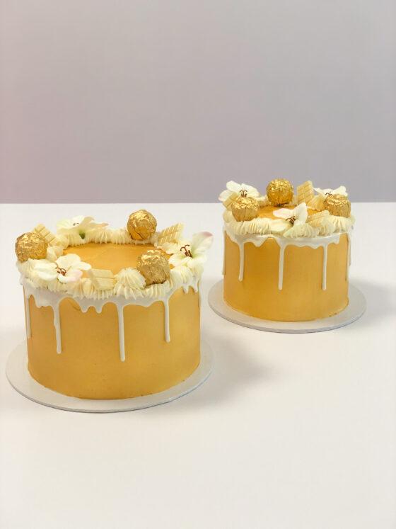 golden cake gouden taart verlovingstaart macarons ferreo dripcake breda bestellen