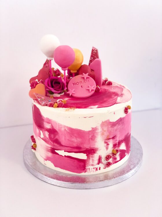 watercolor taart