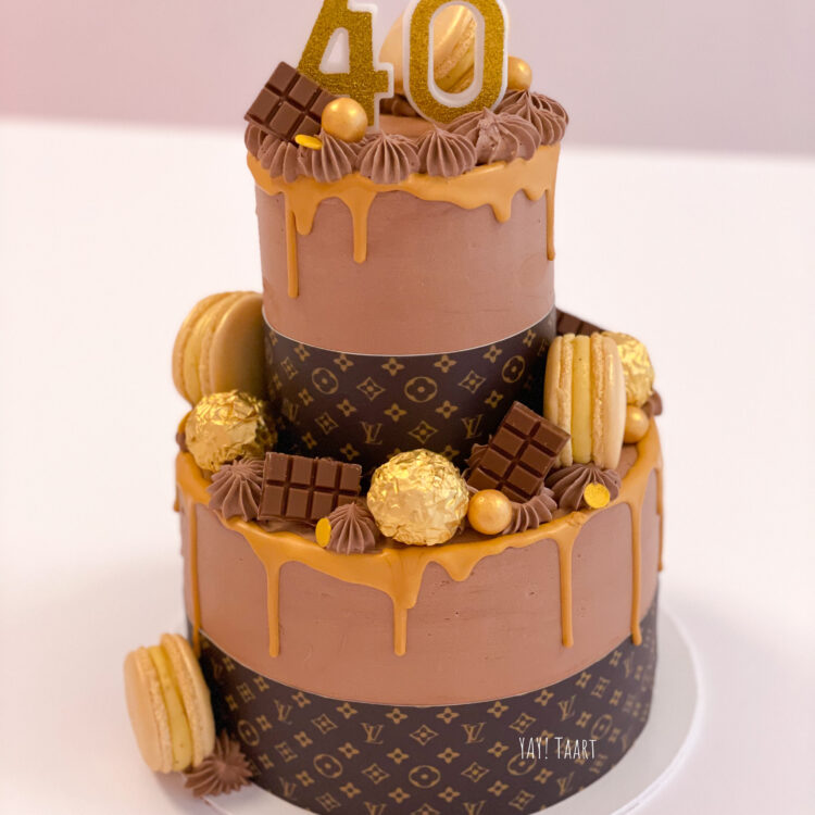 Louis Vuitton cake taart Breda eetbare print Roosendaal Oosterhout Made Tilburg Rijen etten-leur