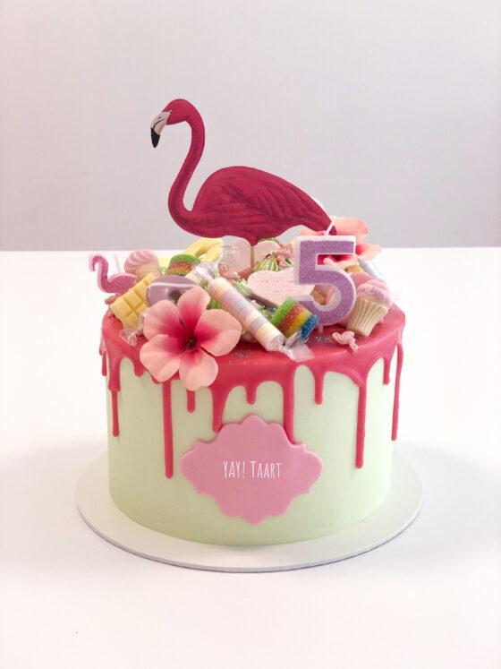 flamingo cake taart loaded snoeptaart breda oosterhout ettenleur roosendaal