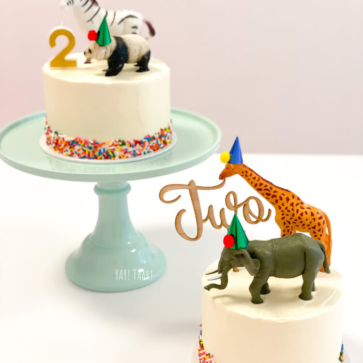 party animal cake taart verjaardag diertjes themataart feesthoed bestellen breda
