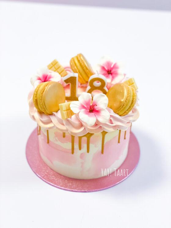 dripcake verjaardagstaart breda roosendaal tilburg oosterhout made bavel etten-leur zevenbergen bloemen sweet 16