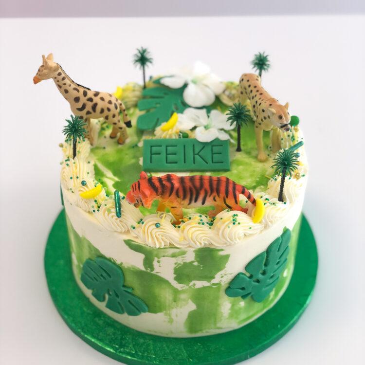 jungle taart cake breda roosendaal etten-leur oosterhout dierentaart bestellen