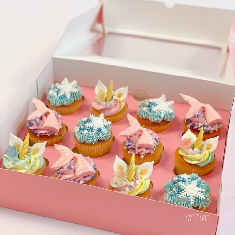 unicorn mermaid frozen cupcakes breda