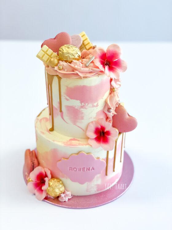 Rowena Verdaasdonk cake yay taart watercolor drip macarons breda oosterhout raamsdonksveer made roosendaal etten-leur tilburg