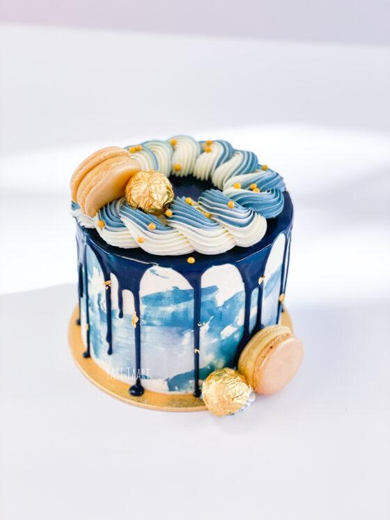 Blue Ocean Gold taart Breda Oosterhout tilburg Roosendaal Etten-Leur man blauw bladgoud