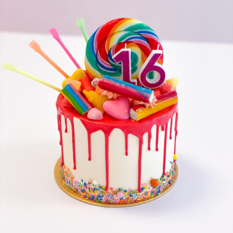 Rainbow dripcake candycake breda roosendaal ettenleur zundert tilburg klundert oosterhout made sprinkles taart