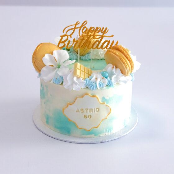 taart topper breda roosendaal made tilburg oosterhout zevenbergen etten-leur watercolor goud macarons workshop