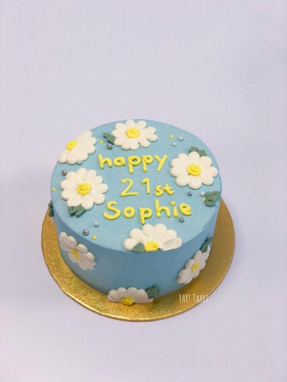 taart breda madelief bloemen flower cake budget bestellen themataart floral roosendaal oosterhout etten-leur breda made hoogstraten