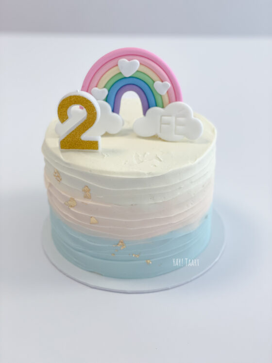 rainbow taart regenboog bestellen cake wolkje kindertaart breda roosendaal etten-leur oosterhout bavel zevenbergen made