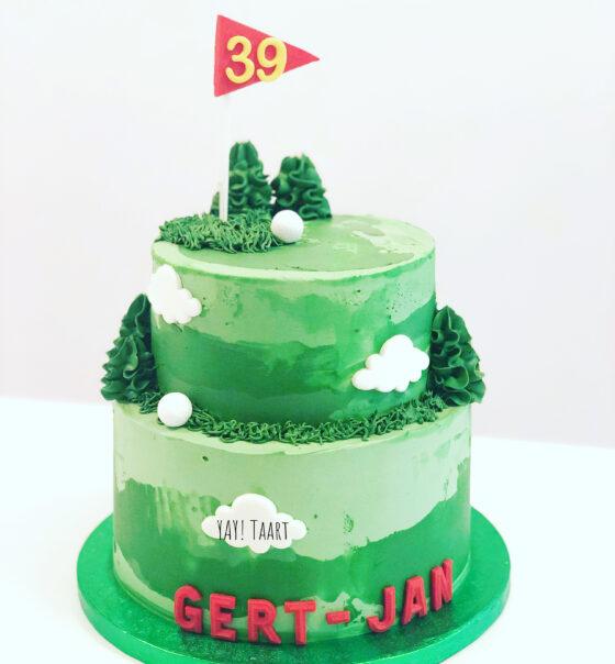 golf taart Breda Oosterhout Prinsenbeek Bavel Ginneken Zevenbergen Roosendaal Raamsdonkveer Tilburg taart cake sport mannen