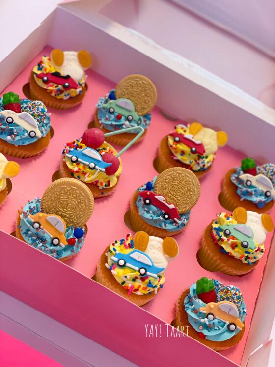 auto voertuigen cupcakes jongens boys Breda Roosendaal Bavel Made Etten-Leur