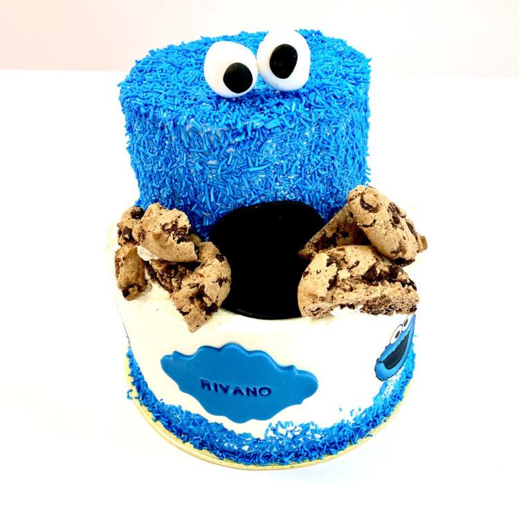 Koekiemonster, verjaardagstaart, verjaardag, taart, Breda, Bavel, Roosendaal, Etten-Leur, Feest, Kinderverjaardag, kind, Sesamstraat, themataart
